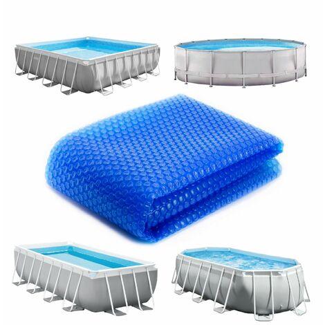 Bâche à bulles ronde, ovale ou rectangle 180 microns pour piscine intex ou autre... - 26 tailles disponibles - Linxor