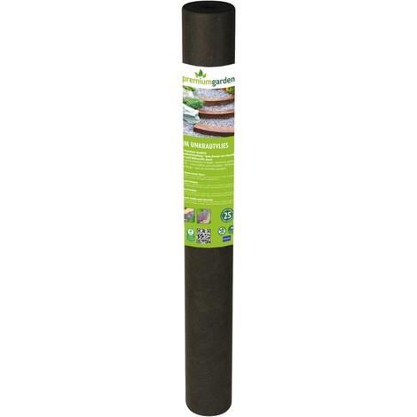 Bache anti mauvaise herbes 1x25m, 90g/m2, gris foncé