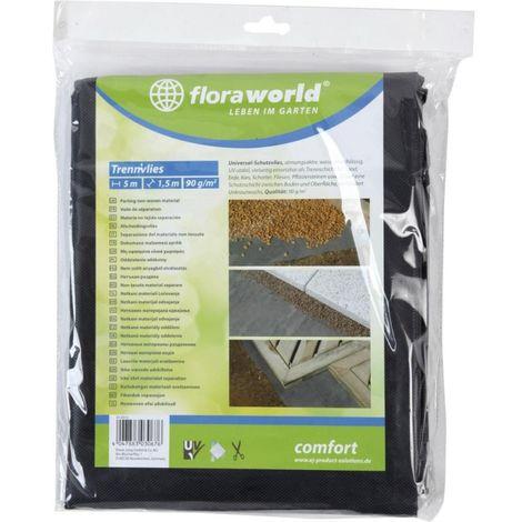 Bache anti mauvaise herbes 1x5m 90g/m2 gris foncé Rolle