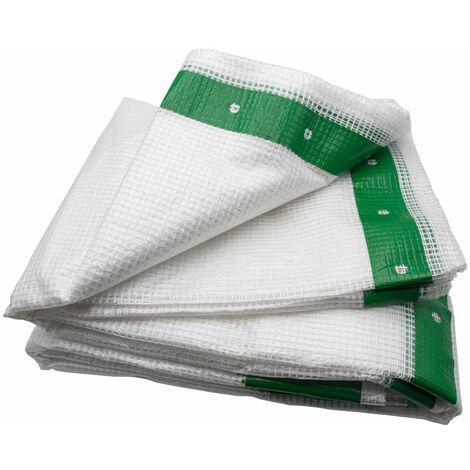 Bâche armée d'échafaudage 170g/m² - Bandes verte Transparent 2.20m x 20m - Transparent