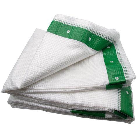 Bâche armée d'échafaudage 170g/m² - Bandes verte Transparent 3.20m x 20m - Transparent