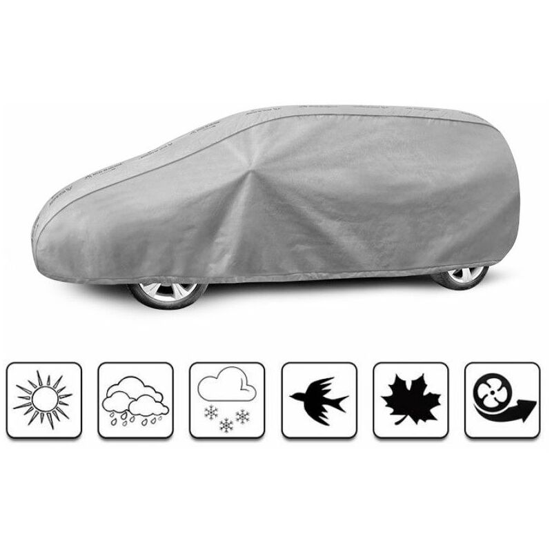 Road Club - bâche auto pour Dacia Dokker (2012 - Aujourd'hui ) - Gris