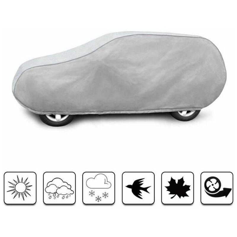 bâche auto pour Fiat 500 L (2012 - Aujourd'hui ) - Gris