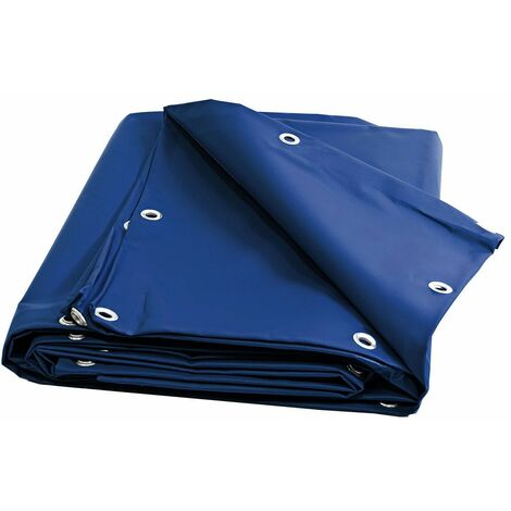 Bache bois 680 g/m² - 8 x 12 m - Bache PVC Bleue - bache imperméable - bache exterieur