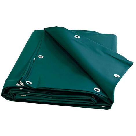 Bache Bois 680 g/m² - 8 x 9 m - Bache PVC Verte - bâches étanches - bache plastique - bache imperméable