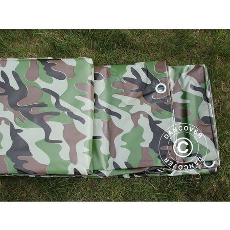 Bâche camouflage 4x6m, PVC 450g/m²