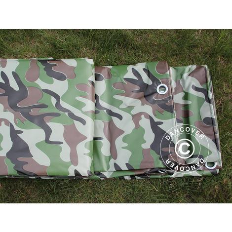 Bâche camouflage 6x8m, PVC 450g/m²