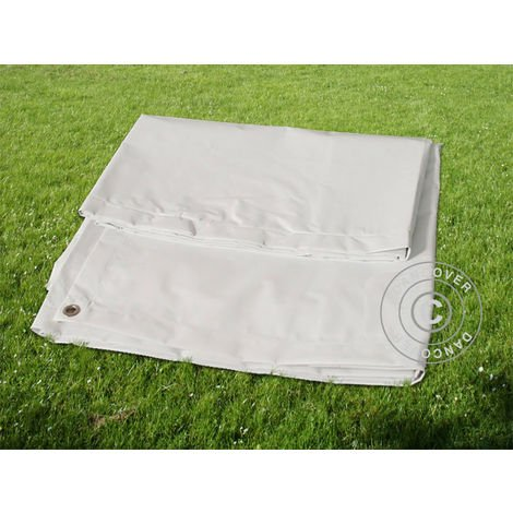 Bâche/Couverture de sol, 4,5x6,5m PVC, Gris