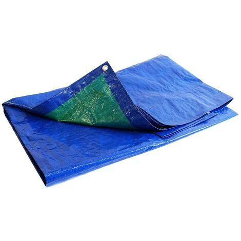 Bache de chantier 150 g/m² - 2 x 3 m - bache etancheite toiture - bache plastique - bache imperméable
