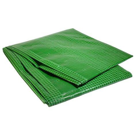 Bache de chantier 170 g/m² - 4 x 6 m - bache verte armée - petite serre de jardin - bache imperméable