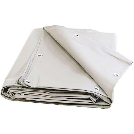 Bache de chantier 680 g/m² - 3 x 5 m - Bache PVC blanche - bache toiture - bâches étanches - protection chantier