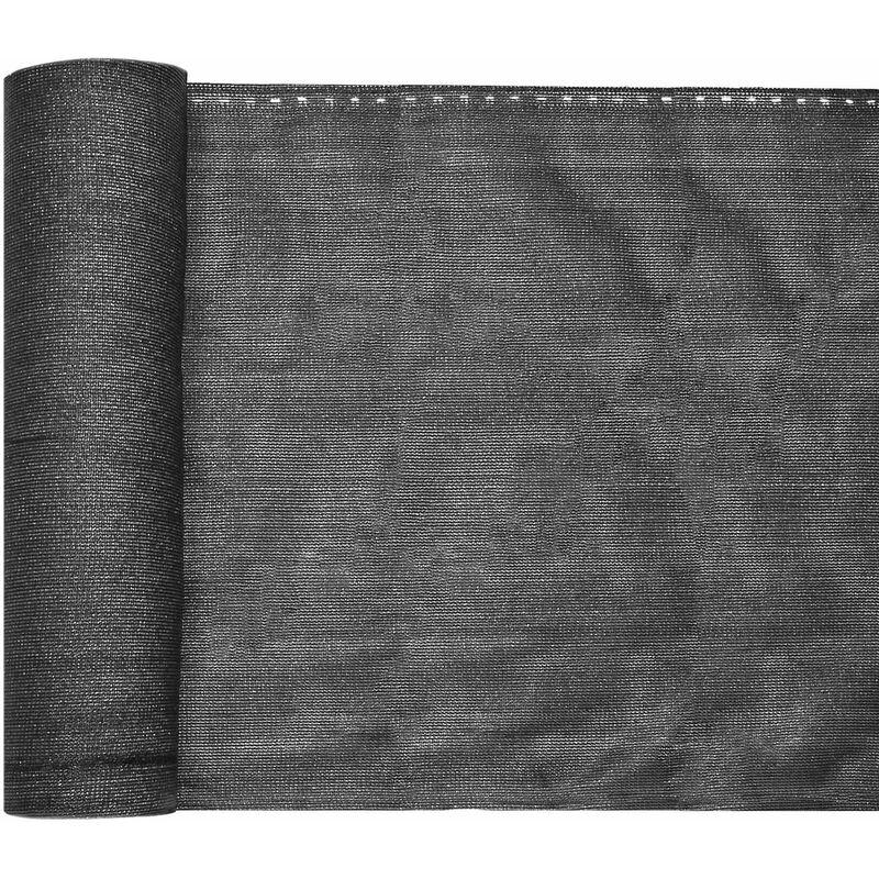 Bâche de clôture 1,2×25m, gris anthracite, brise-vue clôture balcon jardin, tissu PE-HD stabilisé UV