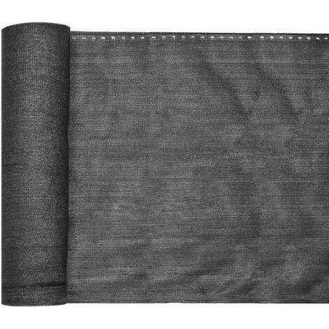 """main image of """"Bâche de clôture 1,5×6m, gris anthracite, brise-vue clôture balcon jardin, tissu PE-HD stabilisé UV"""""""