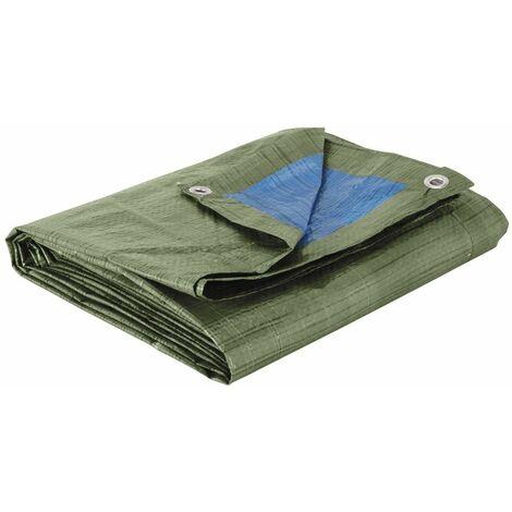 Bâche de couverture Protection gros travaux 5 x 8 mètres 150 gr/m2 outils atelier bricolage - Vert
