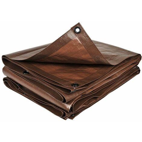 Bâche de jardin marron 140 g/m2
