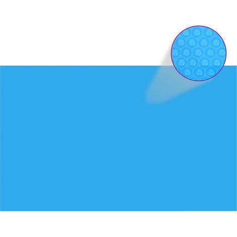 Bache de piscine rectangulaire 260 x 160 cm PE Bleu