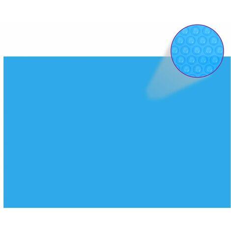 Bâche de piscine rectangulaire 300 x 200 cm PE Bleu