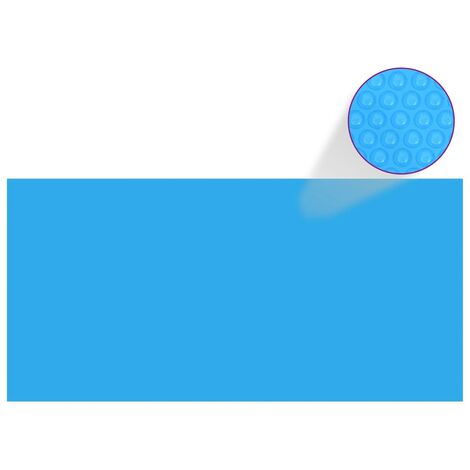 Bache de piscine rectangulaire 450 x 220 cm PE Bleu