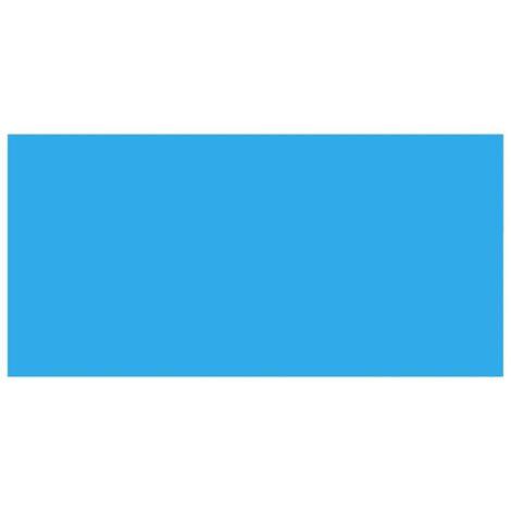 Bâche de piscine rectangulaire 450 x 220 cm PE Bleu
