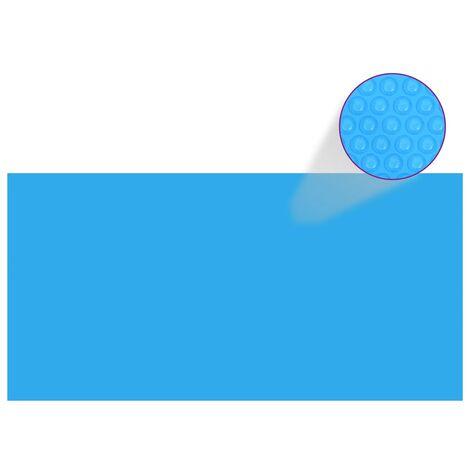 Bâche de piscine rectangulaire 549 x 274 cm PE Bleu
