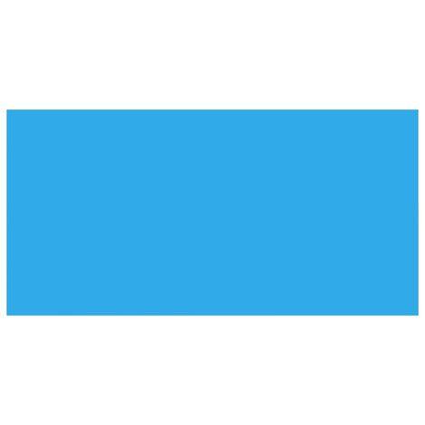 Bâche de piscine rectangulaire 732 x 366 cm PE Bleu