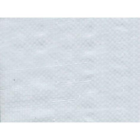 Bâche de protection 150g avec oeillets - Blanc 10m x 12m