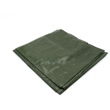 Bâche de protection 150g avec oeillets - Vert 12m x 10m