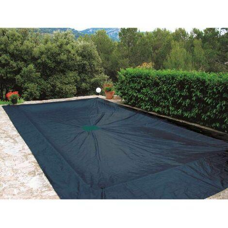 Bâche de protection 240g/m2 4x7m pour piscine rectangulaire