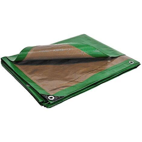Bache de protection 250 g/m² - 4 x 5 m - bache plastique - bache exterieur - bâches étanches - bache toiture - bache de chantier