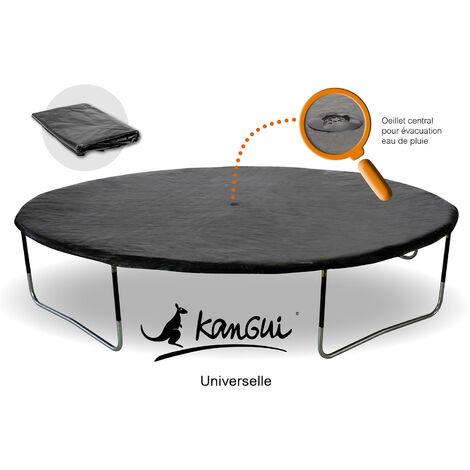 Bâche de protection Ø360cm adaptable à tous trampolines de diamètre 360 cm - Noir