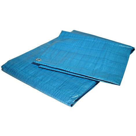 Bache de protection 80 g/m² - 6 x 10 m - bache plastique - bache exterieur - bâches étanches - bache bois - protection peinture