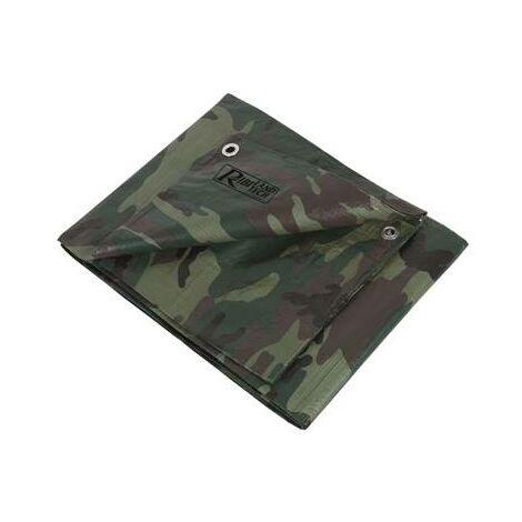 Bache de protection camouflage miltiaire impermeable 1,8 x 3 m
