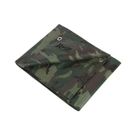 Bache de protection camouflage miltiaire impermeable 3,6 x 5 m