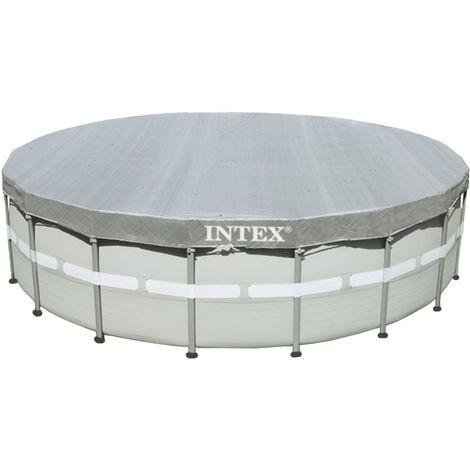 Bâche de protection Deluxe pour piscine tubulaire ronde Ø 5,49 m - Intex