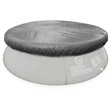 B che de protection grise 330cm pour piscine ronde hors sol 300cm housse couverture sppc10gy - Bache piscine hors sol ronde ...