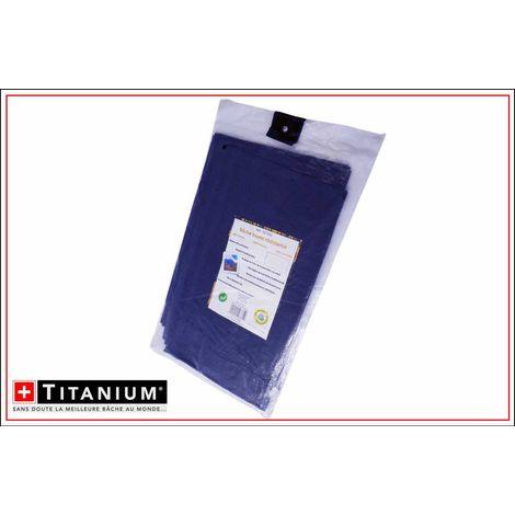 Bâche de protection indéchirable bleu nuit - 4x5 m