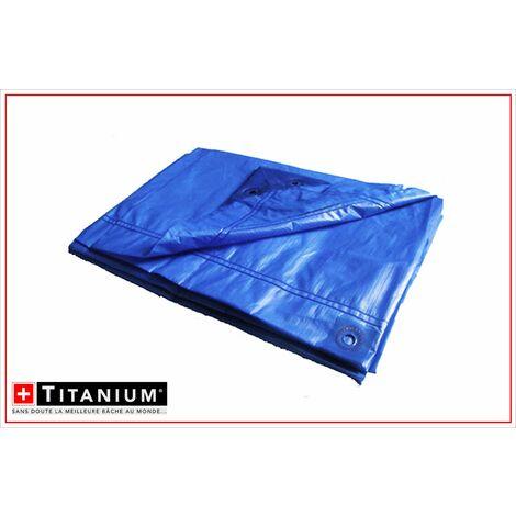 Bâche de protection indéchirable TITANIUM®- 1,5 x 6 m - BLEU NUIT