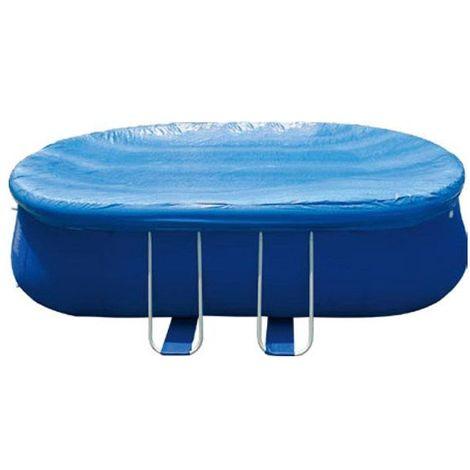 Bâche de protection ovale piscine autoportante 7,2 m x 3,6 m