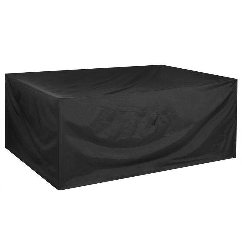 Bâche de protection Oxford 420D housse pour meubles jardin hydrofuge mobilier 242x162x100cm (de)