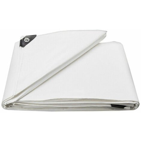 Bâche de Protection PE Bâche Piscine 3x3m,Couverture étanche bâche imperméable et indéchirable,Blanc