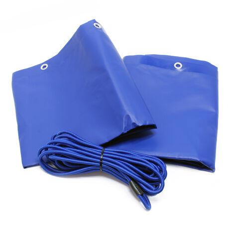 Bâche de protection Plate Remorque 2075x1140x50mm avec Tendeur Imperméable à l'eau et au UV