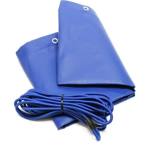Bâche de protection Plate Remorque 2575x1345x50mm avec Tendeur Imperméable à l'eau et au UV