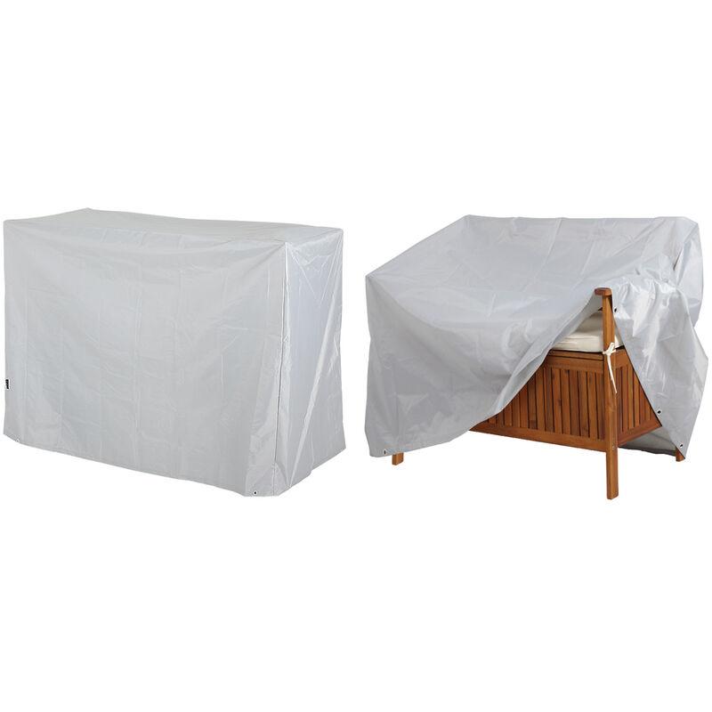 Bâche de protection pour bancs 2 ou 3 places anthracite housse 420D Oxford Abdeckung 3-Sitzer (de)