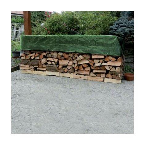 Bache de protection pour bois de chauffage 1,6 x 6 mètres
