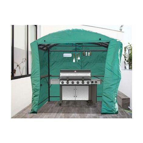 Bâche de protection pour carport pour barbecue CAR 2415 AC coloris vert