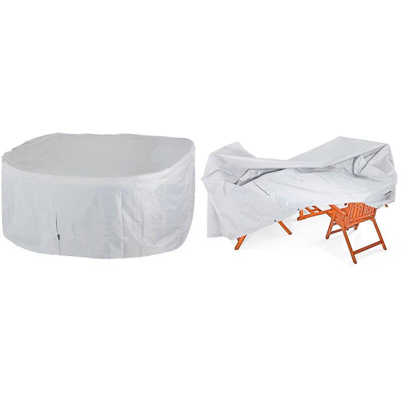 Bâche de protection pour ensemble table et bancs 180x135x82cm 420D Oxford housse Sitzgruppe 6+1 (de)