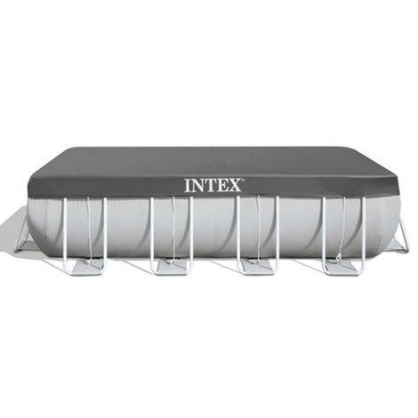Bâche de protection pour piscine Intex tubulaire rectangulaire