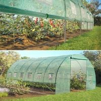 Bâche de rechange 180g/m² pour serre toutes saisons 18m² verte