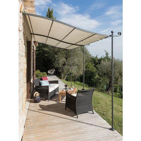 Bache de rechange pour tonnelle pergola 2x3 PVC 650 grs/m² blanc haute qualité