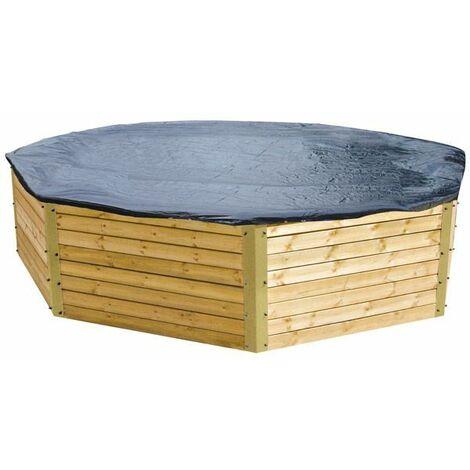 Bâche d'hiver pour piscine bois ronde 5 m